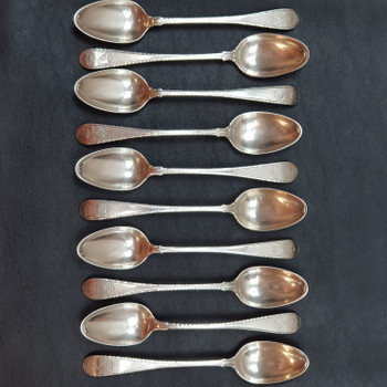 ANTIQUE STERLING SILVER SET SPOONS / TEASPOONS (EDINBURGH C.1775) #53347