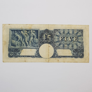 AUSTRALIAN FIVE POUND NOTE - COOMBS / WILSON S43 #53579