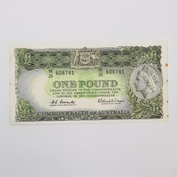 AUSTRALIAN ONE POUND NOTE COOMBS / WILSON HK #53586