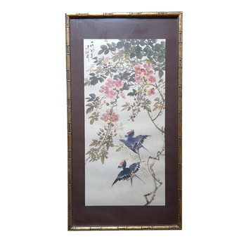 SIGNED LI QING ZHAO SPRING 85 - CHINESE PAINTING WATERCOLOUR ON PAPER