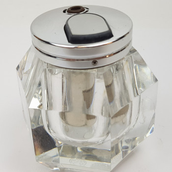BACCARAT CRYSTAL TABLE LIGHTER AND ASHTRAY #52290