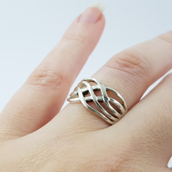 SILVER BAND RING SIZE L #53110