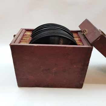 21x PHONOGRAPH GRAMOPHONE DISC RECORDS 78 RPM 10 INCH IN FILING CABINET #53683