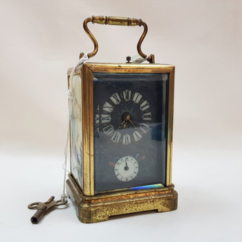 VINTAGE HAND PAINTED CARRIAGE CLOCK #48228