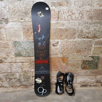 ATOMIC SNOWBOARD 163 WITH AXIS MATRIX BINDINGS - IN OP BAG #46661
