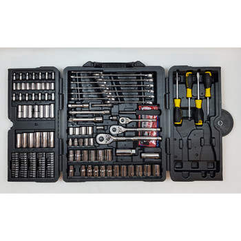 STANLEY TOOL SET 176 PIECE (MISSING PLIERS & SHIFTER) RRP $150 #54096
