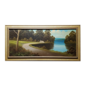 JAMES ROBERT HUTCHINGS (1872-1962) PAINTING - LANDSCAPE - OIL ON BOARD #47094