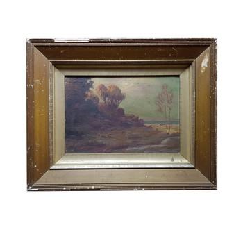 ERNEST WILLIAM CHRISTMAS PAINTING (1863-1918) SIGNED EWC #49622