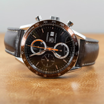 TAG HEUER CARRERA AUTOMATIC CHRONOGRAPH WATCH CV2013 - BROWN #53805
