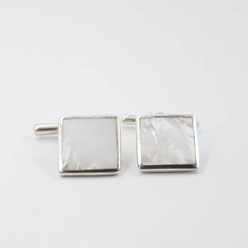 SILVER & MOTHER OF PEARL CUFFLINKS #39719
