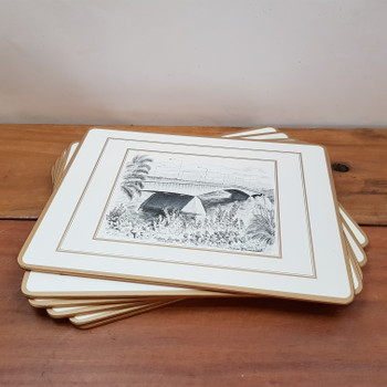 6X PIMPERNEL BRISBANE PLACE MATS FEATURING SELECTED DRAWINGS BY CEDRIC EMANUEL #51150-2