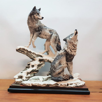 GIUSEPPE ARMANI NOCTURNE WOLVES SCULPTURE - LIMITED EDITION 365/1500 #41679