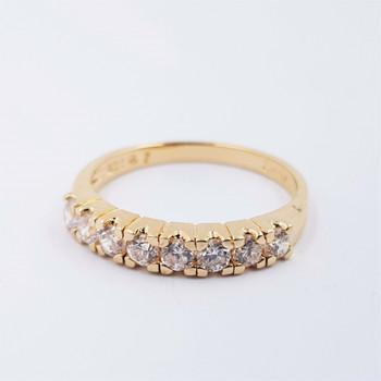 *New* Sterling Silver Yellow Gold Plated Eternity Ring Size N #54672