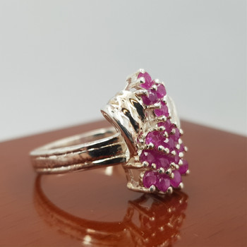 *New* Sterling Silver 925 Natural Ruby Ring Size N #54751