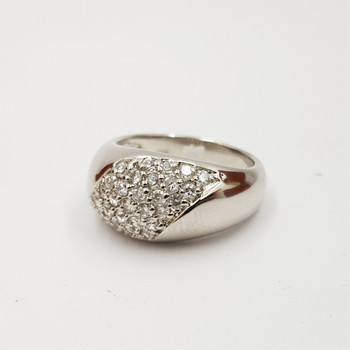 *New* Sterling Silver 925 CZ Ring Size M #54754