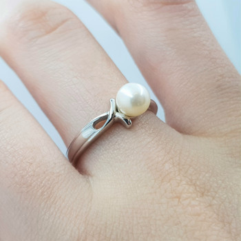 *New* Sterling Silver 925 Pearl Ring Size N #54758
