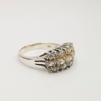 *New* Sterling Silver 925 CZ Ring Size M #54727