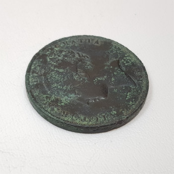 1853 One Penny UK GB Queen Victoria Copper Coin #43884-3