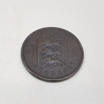 1830 Four 4 Doubles Guernesey George IV Circulated Coin #43884-4