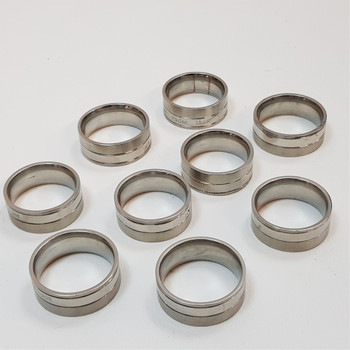 """*Bulk Lot* 9x Men's Stainless Steel Ring Band """"My From Iran"""" #54392-26"""
