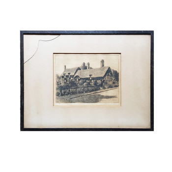 Peter Grahame (1836-1921) Anne Hathaway's Cottage Etching (A/F) #53860