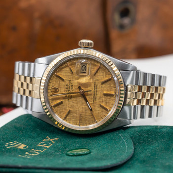 Rolex 18ct Two Tone Oyster Perpetual Datejust Watch 16013 #54868