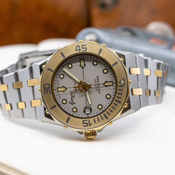 Breitling X Eric Tabarly Two Tone Automatic Watch 80770