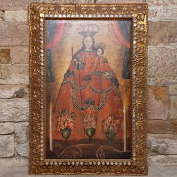 Cuzco School Painting - Lady of Belen - Oil on Canvas #54336