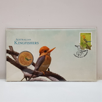 2013 $1 Australian Kingfishers Coin & Stamp Collectors Set #54377