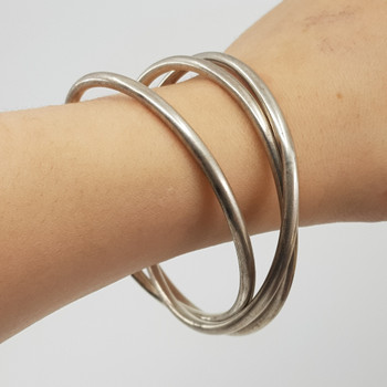 Sterling Silver Trio of Bangles 63mm #52398