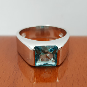 *New* Sterling Silver 925 Topaz Ring Size T #54775