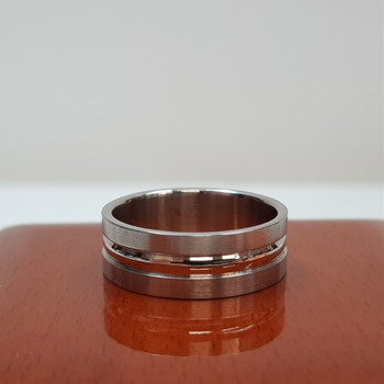 Men's Stainless Steel 8mm Band - Ring Size Z, X or U