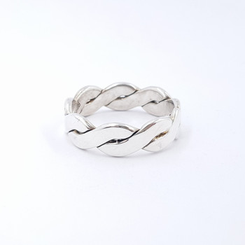 Sterling Silver Large Braided Men's Ring Size Z+1 #53760