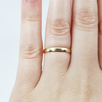 9CT Yellow Gold Narrow Wedder Ring Band Size L #54201