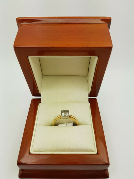 9CT/9K Yellow Gold Ring Size M 3.1gr #34816