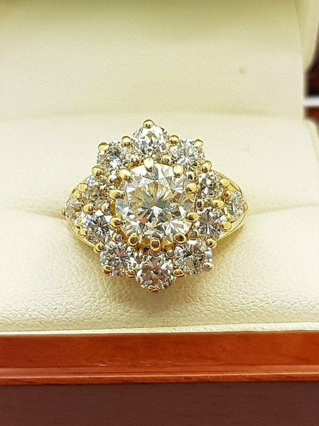 18ct Yellow Gold Diamond Ring 4.35ct (Val $64,210) Size L1/2 #44890