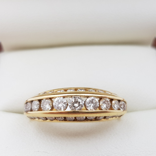 18CT YELLOW GOLD DIAMOND RING 4.5GMS +VALUATION $3800 #12605