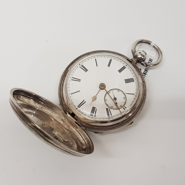 ANTIQUE SILVER FOB WATCH - NEEDS SERVICE #49363