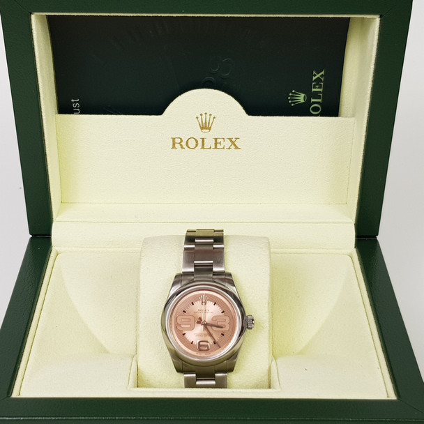 ROLEX AUTOMATIC WATCH 177200 S/S BAND + ORIGINAL BOX + PAPERS + RECEIPT #50881