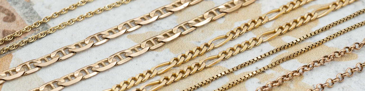 Gold Chains, necklaces and pre-love jewellery