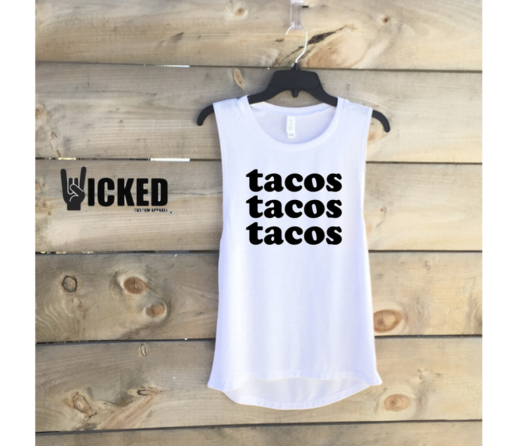 Tacos Tacos Tacos - Muscle Tank