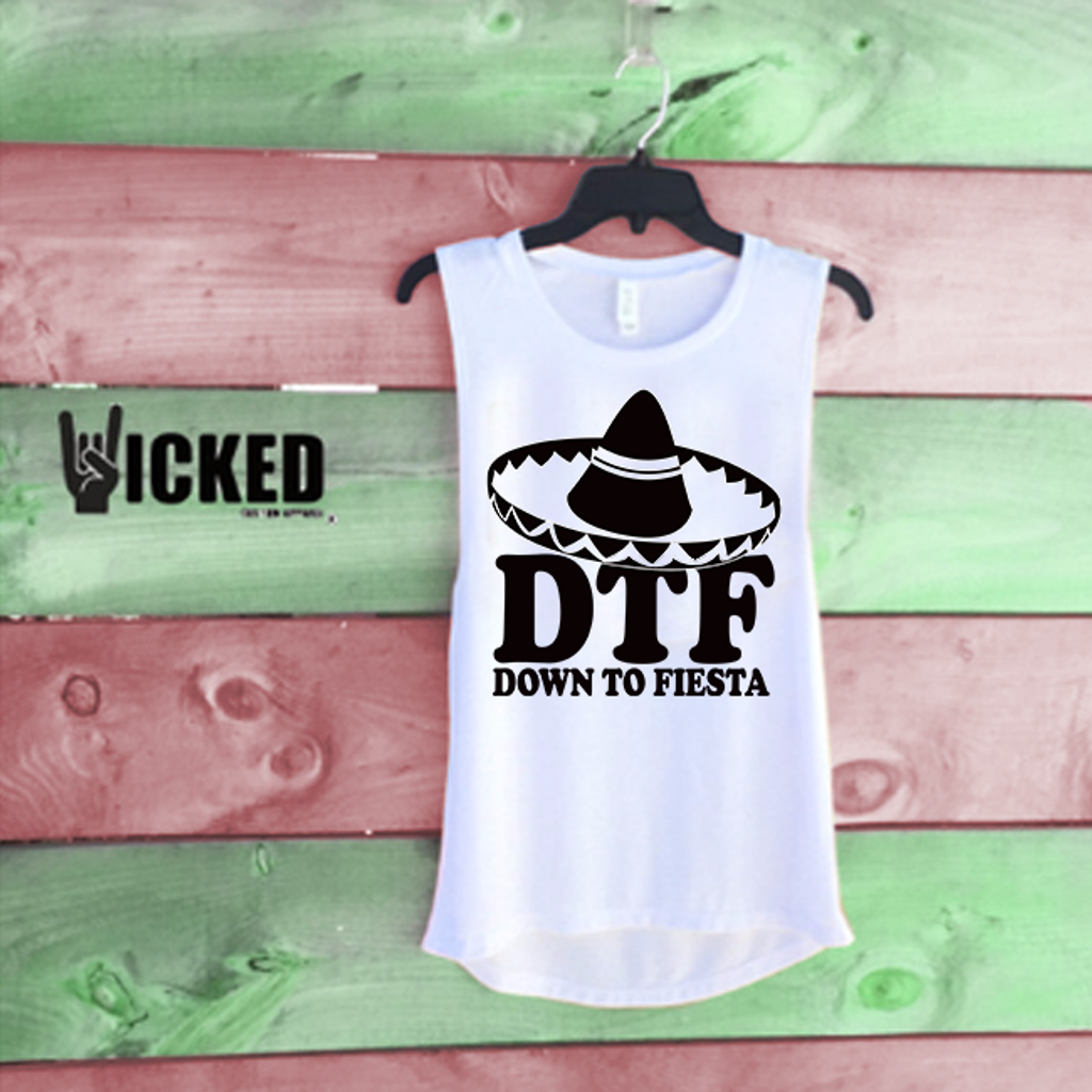 Down to Fiesta Sombrero - Muscle Tank