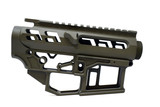 SR-15 Skeletonized Receiver Set [OD GREEN]