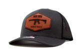 Curved Trucker Hat Charcoal/Black