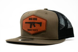 Flat Trucker Hat OD Green/Black