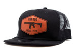 Flat Trucker Hat Black