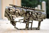 SR-15 Skeletonized Receiver Set Splash [DESERT VERDE/BARRETT BRONZE]