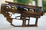 SR-15 Skeletonized Receiver Set Stonewash [TIGER EYE BROWN]