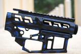 SR-15 Skeletonized Receiver Set Battleworn [PERIWINKLE BLUE]