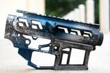 SR-15 Skeletonized Receiver Set Stonewash [SUB ZERO]